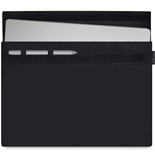 Adore June Classic Schwarz 13,5 Zoll Hülle kompatibel mit Microsoft Surface Book 2 und Surface Book (Erste Generation) Robuste Tasche mit Stift-Halter für Microsoft Surface Pen
