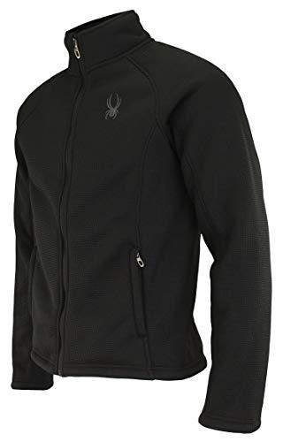 Spyder Men's Steller Full Zip Jacket, Black Tonal (F19) Medium