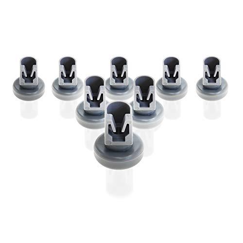 Spülmaschine Oberkorbrollen (Geschirrspülmaschine) | Inhalt: 8 Stück | 25 mm Durchmesser | geeignet für Bosch, Siemens, AEG Favorit, Privileg, Zanussi, UVM. | von CleanMonster