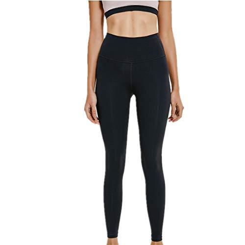 WY1688 Damen Yogahose Blickdichte Kurze Laufhose Fitness Hosen Jogginghose Neues 2020 Yogahosen Sporthosen Stretchhosen Mit Hoher Taille D-Black XL