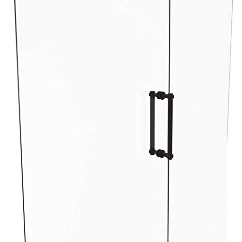 Allied Brass 404G-12BB Contemporary 12 Inch Back Grooved Accent Shower Door Pull, Oil Rubbed Bronze