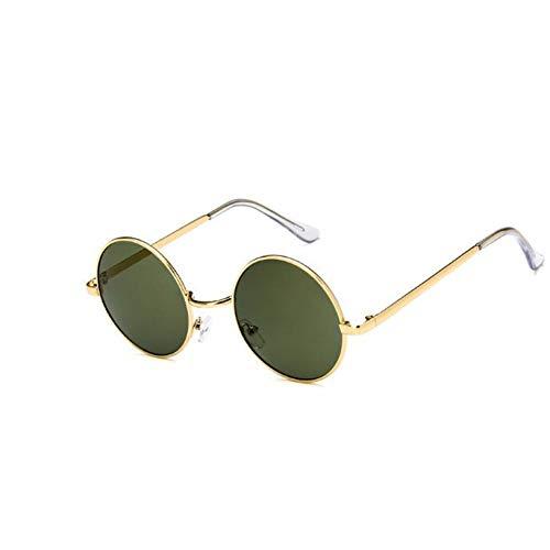 CHENG/ CHENG Sonnebrille Tiny Unisex Retro Metall Runde Sonnenbrille MännerKleines Gesicht Hip HopSonnenbrilleFrauen