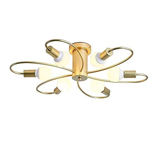 LLLKKK Home Creativity - Lámpara de araña medieval moderna lámpara de techo industrial, para cocina, comedor, sala de estar