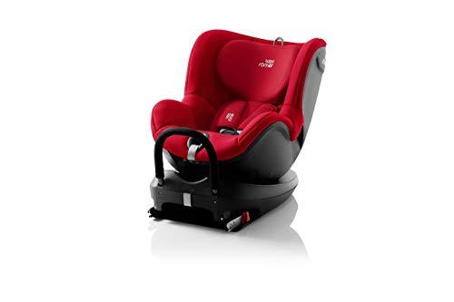 BRITAX RÖMER Kindersitz DUALFIX 2 R, 360° drehbar für Kinder von 0 - 18 kg (Gruppe 0+/1), von Geburt bis 4 Jahre, Fire Red