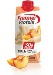 Premier Protein Ready to Drink Shake, Peaches & Cream, 4 Little Cartons