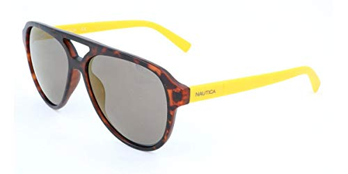 Nautica N3632SP Injected Sonnenbrille matt Dark Tortoise Unisex Erwachsene, Mehrfarbig, Standard