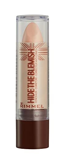Rimmel London Correttore Hide The Blemish, Stick Copri Occhiaie, Rossori e Imperfezioni, 004 Natural Beige, 4.5 g