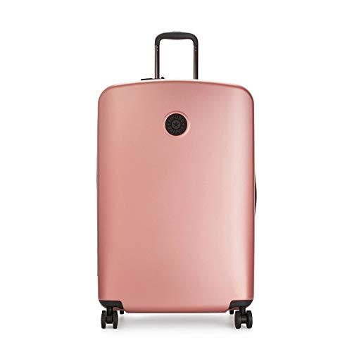 Kipling Curiosity Large Metallic 4 Wheeled Rolling Luggage Metallic Rust