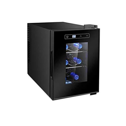Nuitab 6 flessen, wijnkoelkast, 7-18 °C, temperatuur drankgedeelte, koelkast, glazen deur, geschikt voor keuken, woonkamer, kantoor