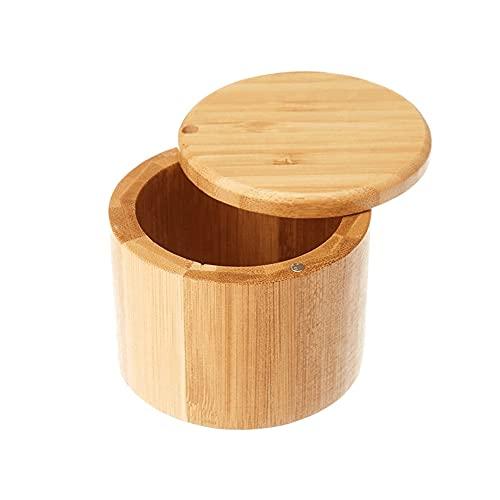 Moseng Salero con tapa giratoria magnética, recipiente para condimentos con cubierta, ingredientes de cocina, tarro de almacenamiento para mesa de comedor de cocina
