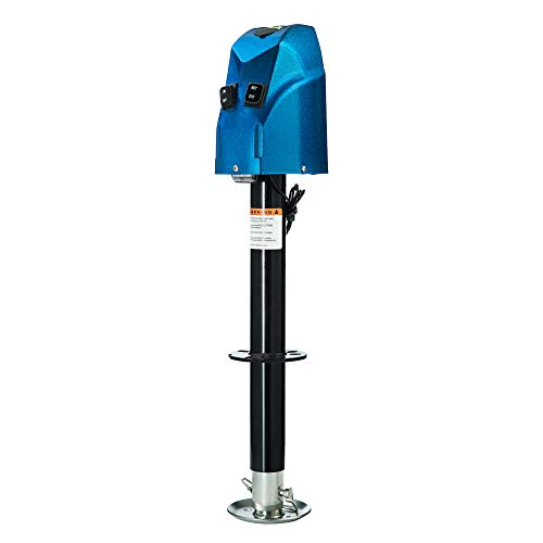HOTSYSTEM 4000 lbs Electric Trailer Power A-Frame Tongue Jack with Drop Leg for RV Camper Traveler, 12V DC, Blue