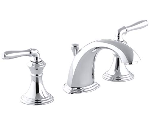 KOHLER Devonshire 2-Handle Widespread Bathroom Sink Faucet with Metal Drain Assembly in...
