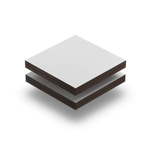 Kunststoffplattenonline.de - HPL Platten - Weiß RAL 9016-3mm im Zuschnitt (20 x 10 cm (200 x 100 mm))