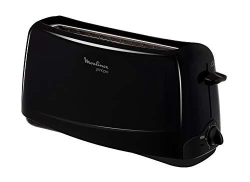 MOULINEX Principio 1 longue fente noir Grille pain Thermostat 6 positions Fonction Stop EjectTL110800