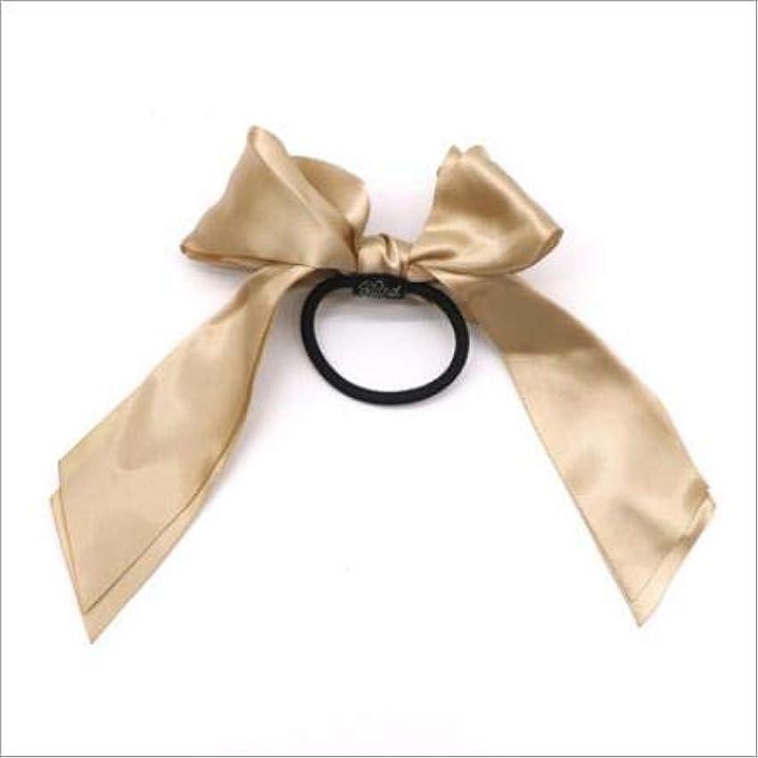 Hairpinheair YHM 3PCS女性ラバーバンドティアラサテンリボンボウヘアバンドロープシュシュポニーテールホルダー(ピンク) (色 : Gold)