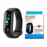 Bluetooth Sport M3 Band Smart Wristband Pedometer with Heart Rate Monitor Watch,Black