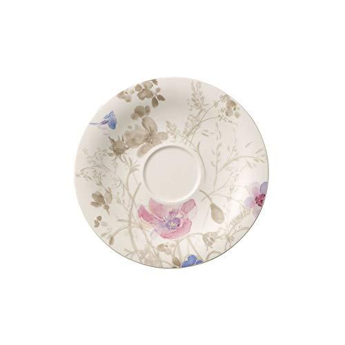 Villeroy & Boch Mariefleur Gris Basic Sous-tasse, 19 cm, Porcelaine Premium, Blanc/Multicolore