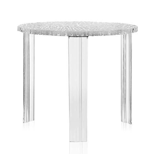 Kartell T-Table table blasse h.44 cm transparente cristal
