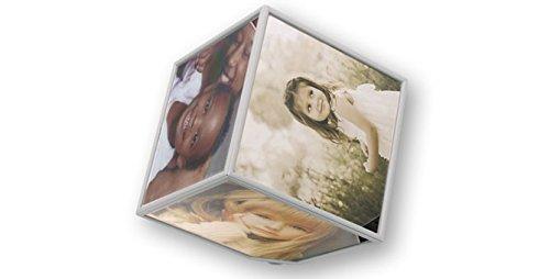 Dakota Marco Fotos Rotatorio Giratorio. 15x15 o 10x10 Negro o Blanco 1unidad (10x10, Blanco)