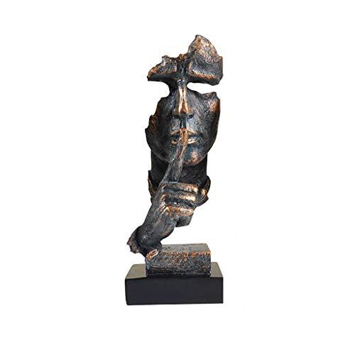 YYDE Resina Abstracta Moderna Estatua-no Escucha, no Véase,
