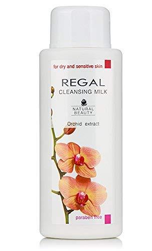 Lait nettoyant pour peaux sèches et sensibles à l'extrait d'orchidée REGAL Natural Beauty 200 ml