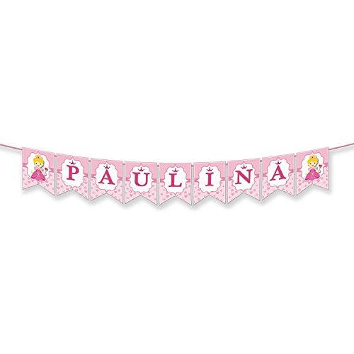 Guirnalda Personalizada Con Nombre - Paulina, Paula, Luna