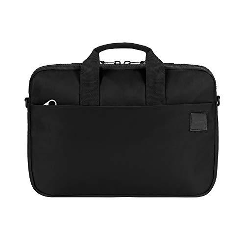 Incase Compass Brief Sleeve - Funda para Apple MacBook Pro de 15,4' (Nailon, Interior de Piel sintética, Correa para el Hombro, 2 Compartimentos Principales Separados - Negro