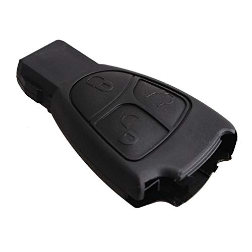 Cguard Mercedes Schlüsselgehäuse für Fernbedienung, kompatibel mit Mercedes-Benz CL55 AMG C230 C240 S600 E320A, Vito, Sprinter, B, C, R, C, E, S, ML, CLK, CLS, SLK Klasse 3 Tasten