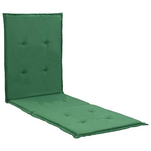 vidaXL Cojín para tumbona verde 180x55x3 cm