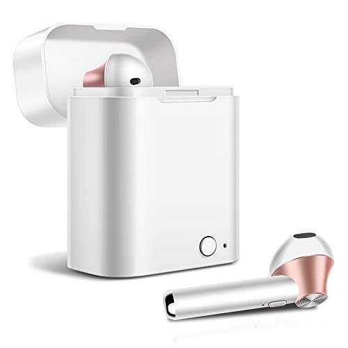 AKASHI ALTPNKEARB Earbuds Wireless Blanco Rosa Auriculares INALÁMBRICOS Bluetooth con Estuche BATERÍA
