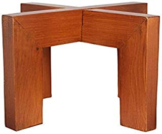Modern Plant Stand for Plant Pot Indoor - Wooden Indoor Plant Stands 10 x 6 inch Size Holds Upto 10