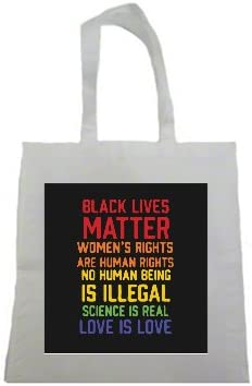 Black Lives Matter Women's Rights are Human Rights Brights Print