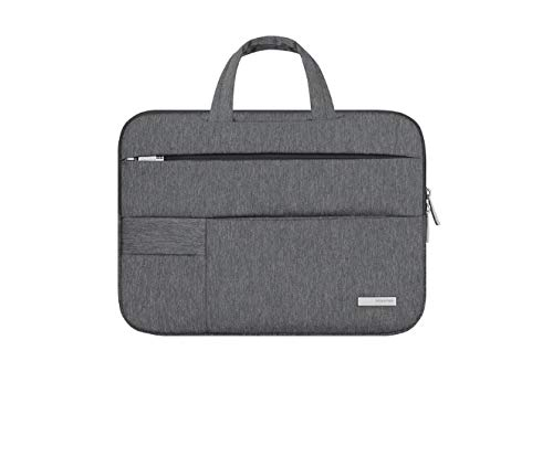 QiuKui Tab Funda 11 12 13 14 15 15,6 Pulgadas portátil Bolsa for DELL ASUS Lenovo Acer HP, Caja del Bolso Bolso de la Tableta Fundas Macbook Air Pro Notebook (Farbe : Deep Grey, Größe : 15 6 zoll)