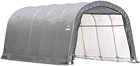 ShelterLogic Replacement Cover 12Wx20Lx8H Round Garage in a Box 805100 90603 for Model 62779 (14.5oz PVC Gray)