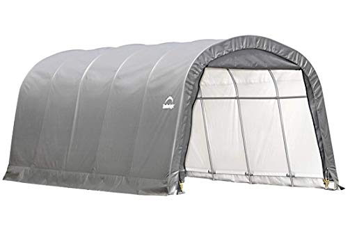 ShelterLogic Replacement Cover 12x20x8 Round Garage in a Box 90541 for Model 62780 (7.5oz Gray)