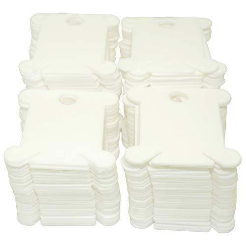 120 unidades de hilo de plástico organizador bordado punto de cruz hilo blanco titular de tarjeta DIY accesorios de almacenamiento de costura