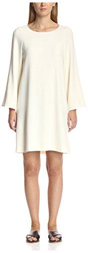 Helmut Lang Women's Bell Sleeve Dress, Ivory, M