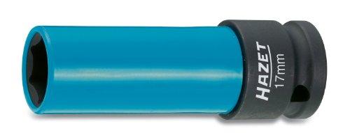 HAZET Steckschlüsseleinsatz (1/2 Zoll (12,5 mm) Vierkantantrieb, mit Kunststoffhülse zum Schutz von Felgen, Schlüsselweite: 17 mm) 903SLG-17