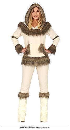 FIESTAS GUIRCA Disfraz de Esquimal Blanco para Mujer Adulta Talla 36 - 38