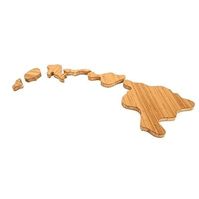 Cutting Board Company State Shaped Cutting Board, Bamboo Cheese Board