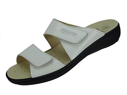 Algemare Damen Pantolette mit waschbarem Sani-Pur Wechselfußbett Made in Germany 34312_1616 eleganter Freizeitschuh Sandale Fußbettpantolette, Größe:39 EU