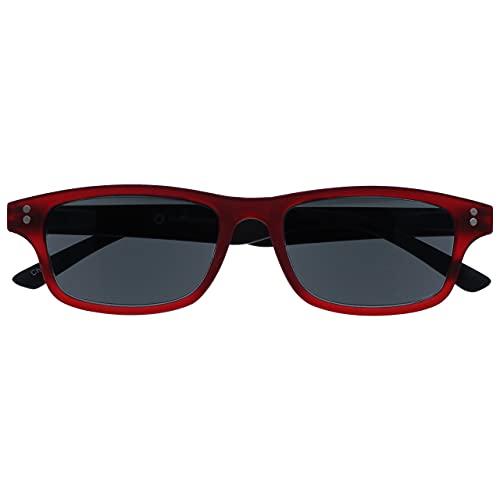 Uv Reader Goma Rojo Negro Lectores De Sol Gafas De Lectura Uv400 Hombres Mujeres Uvsr033 +1,50 50 g