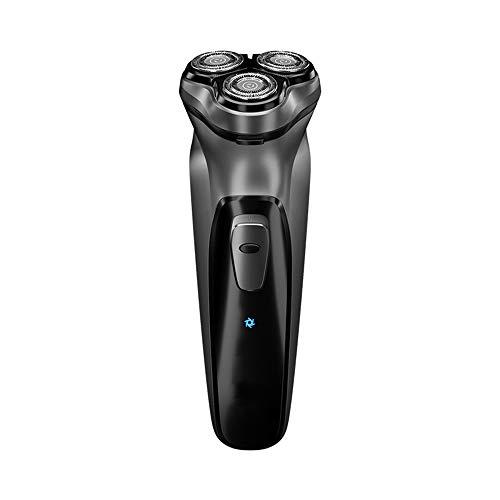 Máquina de afeitar eléctrica de los hombres, a prueba de agua portátil de la maquinilla de afeitar papel de aluminio, elegante del USB de carga rápida rotación 3D barbero de los hombres inalám