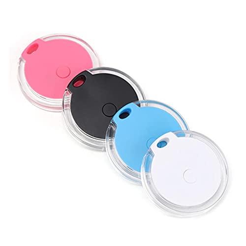 Alueeu Mini GPS Tracker für Hund Katzen, Wasserdichter Anti Verloren Echtzeit GPS Locator, Bluetooth GPS Ortungsgerät Alarm-Tag, Schlüsselfinder für Kinder, Fahrrad, Haustier, Auto (Schwarz, One Size)