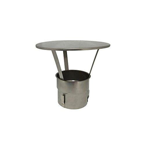 Edelstahl-Schornstein Regenhaube Kamin-Hut alle Durchmesser Abdeckung (ohne Funkenschutz, 150)