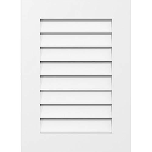 Ekena Millwork GVPVE36X3801SF Vertical Surface Mount PVC Gable Vent, 36 W Inch x 38 H Inch, Factory Primed White