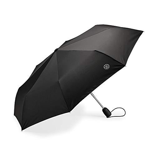 Volkswagen 000087602P Regenschirm Taschenschirm Schirm schwarz, mit neuem VW Logo