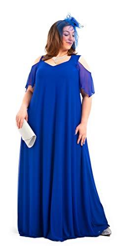 PARAISO CURVY Vestido de Fiesta elástico en Tallas Extra Grandes, Fabricado en España, te da la Mayor Comodidad (60)