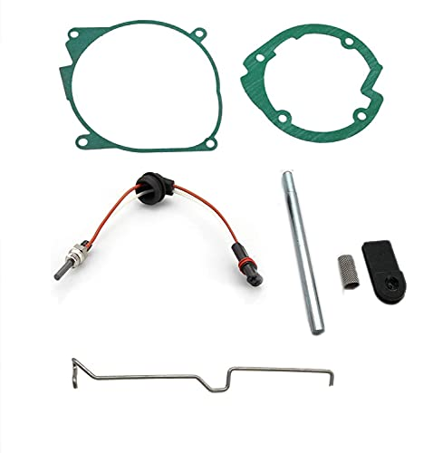 Superunner Glow Plug Repair Kit, Parking Heater Maintenance Kit Replacement for Eberspaecher D2 Airtronic 4 kW Air 12V/24V with Glow Plug/Plug Screen Kit/Gasket