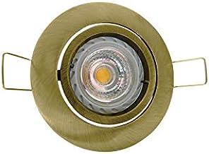Gouden ring voor GU10/GU5.3 inbouw kantelbaar AlcapowerAP034G
